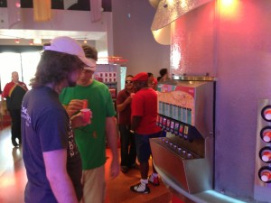 The selectoin of drinks at Club Cool at Disney's EPCOT
