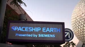 EPCOT Direction Signage for Spaceship Earth
